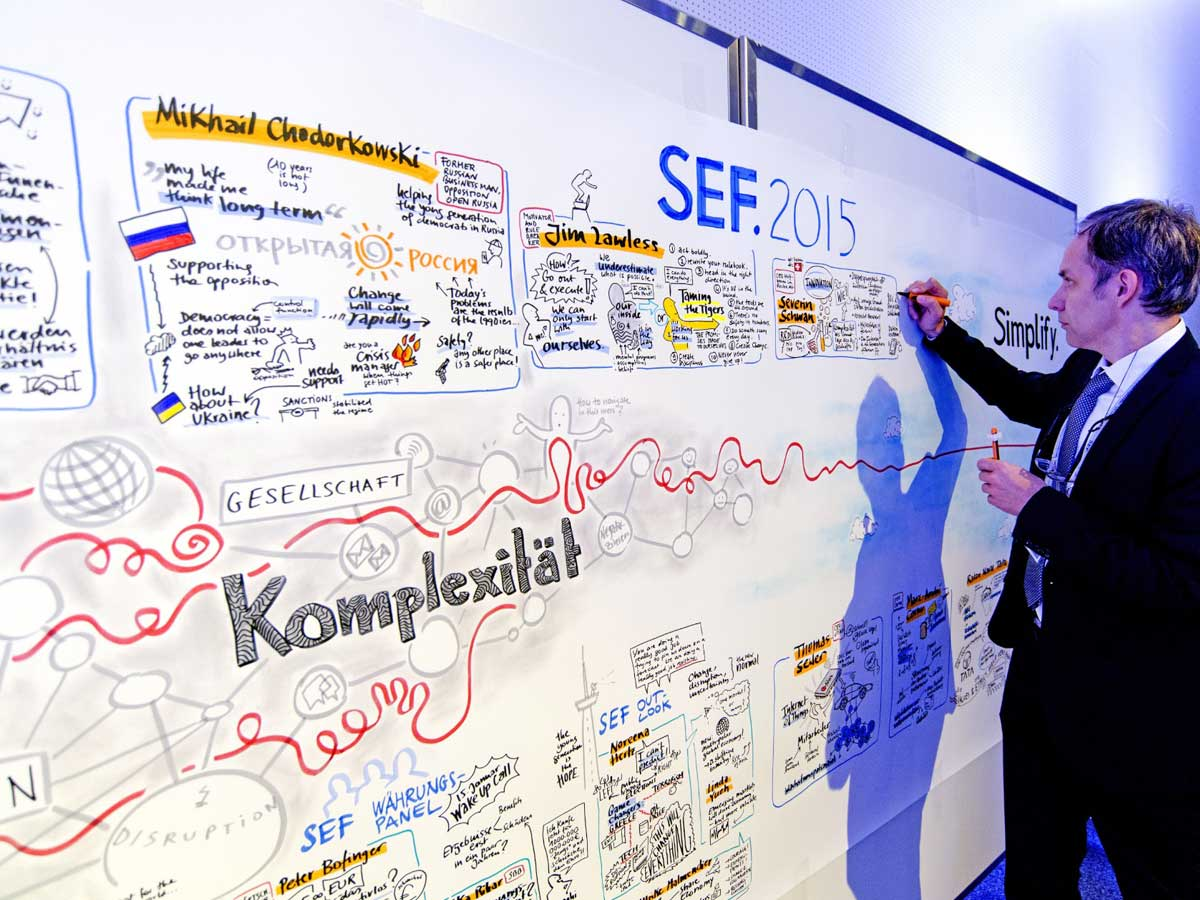 Graphic recording conferences